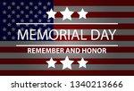memorial day background.... | Shutterstock .eps vector #1340213666