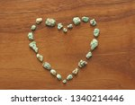 turquoise stones on a... | Shutterstock . vector #1340214446