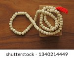 buddhist beads. rosary or beads ... | Shutterstock . vector #1340214449