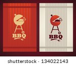two variation of cover for your ... | Shutterstock . vector #134022143