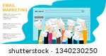email marketing concept design. ... | Shutterstock .eps vector #1340230250