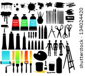 painting set | Shutterstock .eps vector #134024420