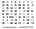 arrows a large set of black... | Shutterstock .eps vector #1340247743
