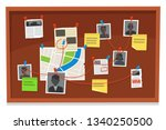 detective board. crime evidence ... | Shutterstock .eps vector #1340250500