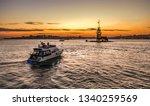 luxury yacht cruising on... | Shutterstock . vector #1340259569