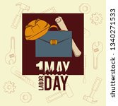 labor day may eleven card | Shutterstock .eps vector #1340271533