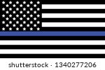 american flag with thin blue... | Shutterstock .eps vector #1340277206