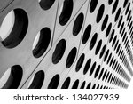 black and white doted... | Shutterstock . vector #134027939