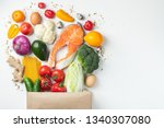 food from the supermarket.... | Shutterstock . vector #1340307080