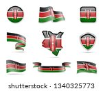 kenya flags collection. flags... | Shutterstock .eps vector #1340325773