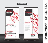 roll up business brochure flyer ... | Shutterstock .eps vector #1340333066