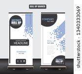 roll up business brochure flyer ... | Shutterstock .eps vector #1340333069