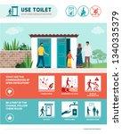 stop open defecation healthcare ... | Shutterstock .eps vector #1340335379