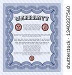 blue warranty certificate...   Shutterstock .eps vector #1340337560