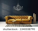 Modern Living Room  With Yellow ...