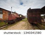 old narrow gauge train on the...   Shutterstock . vector #1340341580