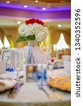 wedding banquet table with...   Shutterstock . vector #1340352596