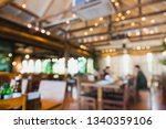blur coffee shop or cafe... | Shutterstock . vector #1340359106