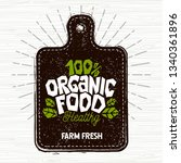 organic food logo  farm fresh... | Shutterstock .eps vector #1340361896