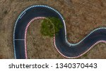 curving race track view from... | Shutterstock . vector #1340370443