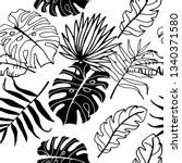 palm leaves tropical floral... | Shutterstock .eps vector #1340371580