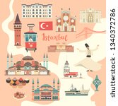 istanbul city colorful vector... | Shutterstock . vector #1340372786