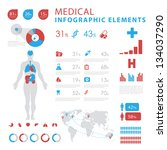 medical infographic elements | Shutterstock .eps vector #134037290