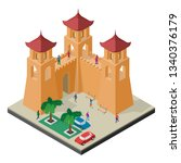 cityscape in isometric view.... | Shutterstock .eps vector #1340376179