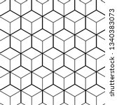 patterned cube background... | Shutterstock .eps vector #1340383073