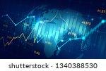 futuristic concept of global...   Shutterstock . vector #1340388530