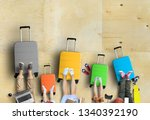 family is going on a trip  five ... | Shutterstock . vector #1340392190