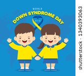 21 march   world down syndrome... | Shutterstock .eps vector #1340393063