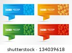 banners set made of cubes shape. | Shutterstock .eps vector #134039618