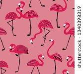 elegant wildlife birds print.... | Shutterstock .eps vector #1340398319