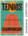 tennis typographical vintage... | Shutterstock .eps vector #1340411066