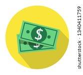vector flat design dollar money ... | Shutterstock .eps vector #1340411759
