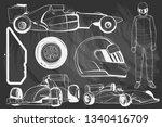 illustration of racing car on... | Shutterstock .eps vector #1340416709