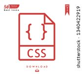 outline css file type icon...