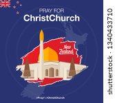 pray for christchurch  a... | Shutterstock .eps vector #1340433710