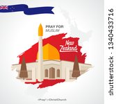 pray for new zealand  the... | Shutterstock .eps vector #1340433716