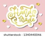 calligraphy lettering of hand...   Shutterstock .eps vector #1340440046