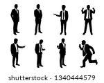 silhouette set of businessman... | Shutterstock .eps vector #1340444579