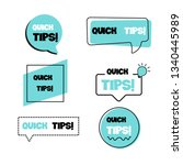 quick tips. set  collection ... | Shutterstock .eps vector #1340445989