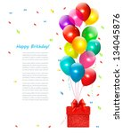 holiday background with...   Shutterstock .eps vector #134045876