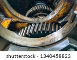 disassembled gearbox for clutch ...   Shutterstock . vector #1340458823
