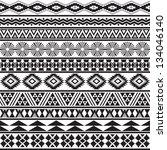 tribal striped seamless pattern....   Shutterstock .eps vector #134046140