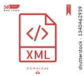 outline xml file type  icon...