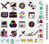 design set of icons   Shutterstock .eps vector #134046860