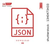 outline json file type icon...