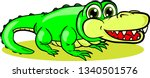 young cartoon crocodile with... | Shutterstock .eps vector #1340501576